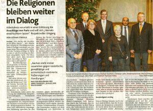 Pressegespräch mit Dialog, Aachener Nachrichten vom 4.12.2015